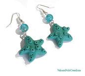 Orecchini stella marina verde acqua