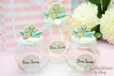 Barattolini con decorazioni floreali