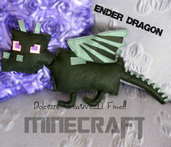 Cuscino Miniature -  Dragon -  -  kawaii - regalo geek, nerd, gamer - HANDMADE -