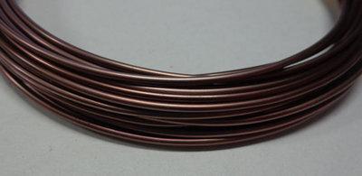 6 metri Filo Alluminio colore CIOCCOLATO 1.5 mm