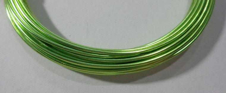 6 metri Filo Alluminio colore VERDE LIME 1.5 mm