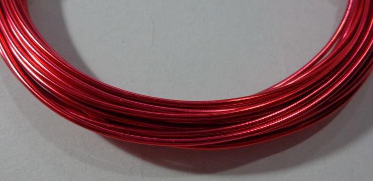 6 metri Filo Alluminio colore ROSSO FRAGOLA 1.5 mm
