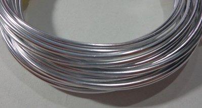 6 metri Filo Alluminio colore ARGENTO 2 mm