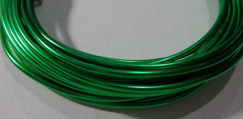 6 metri Filo Alluminio colore VERDE SMERALDO 2 mm