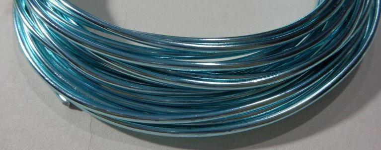 6 metri Filo Alluminio colore AZZURRO 2 mm