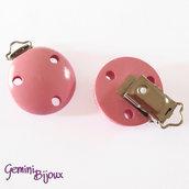 Clip in legno portaciuccio rosa
