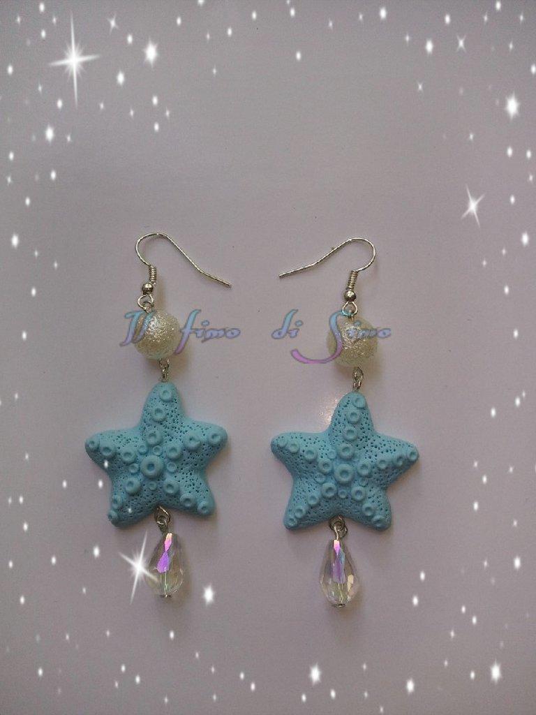 orecchini stella marina in fimo