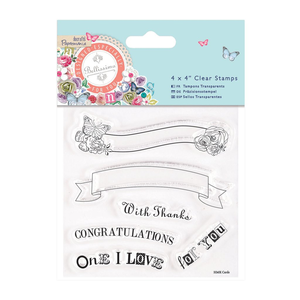 "Clear Stamps - Bellissima ""Text Banners"""