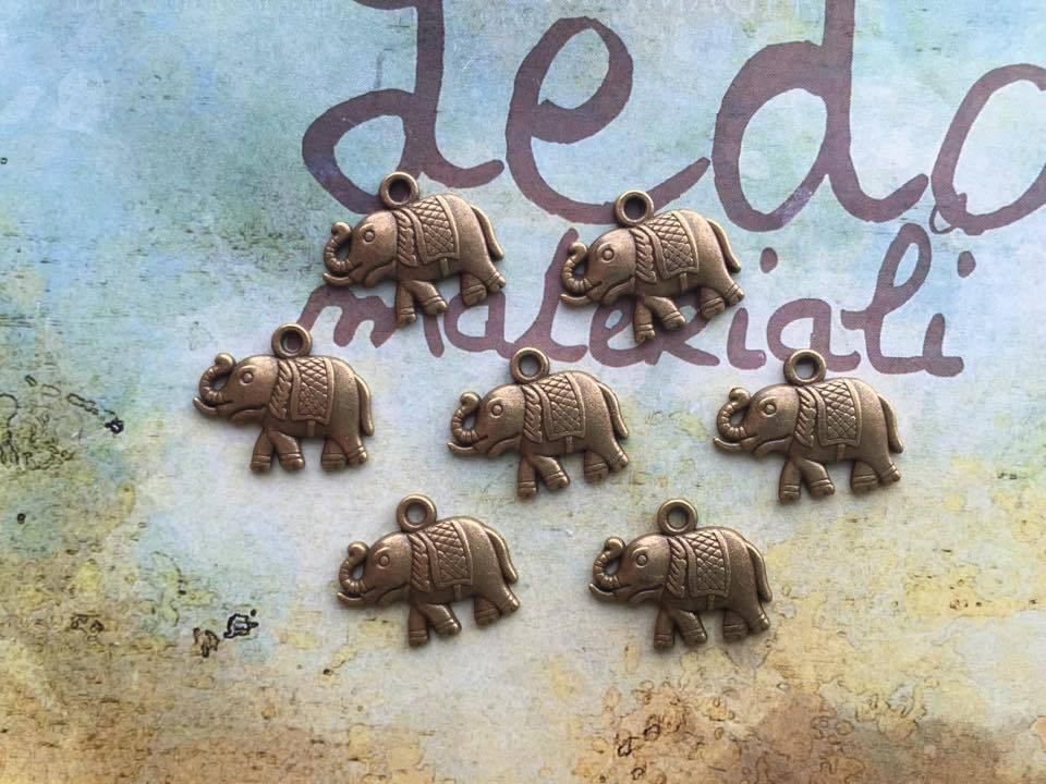 Charm Elefante bronzo