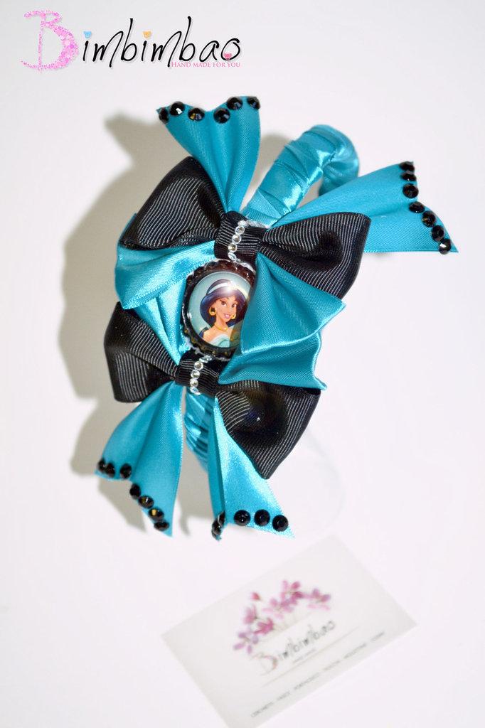 cerchietto frontino corona coroncina cerchiello  principesse jasmine cartoni animati ispirato