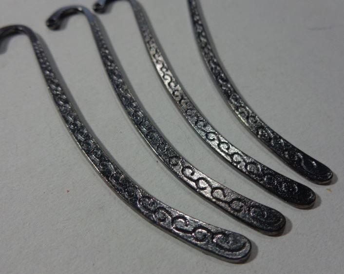4 Basi per Segnalibro in argento tibetano ARGENTO NERO
