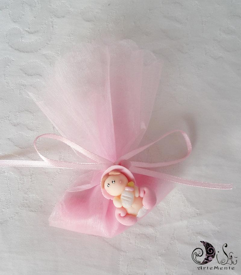Bomboniere battesimo ciondoli folletti bebè bimba complete confetti