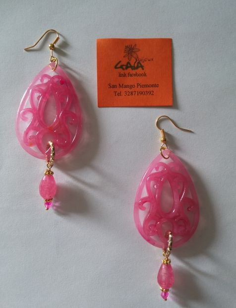 Resine rosa con goccia