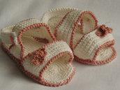 sandaletto bianco e rosa