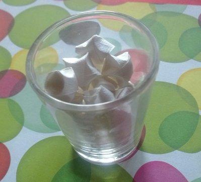 50 stelle origami, decorazione, feste, confetti, coriandoli