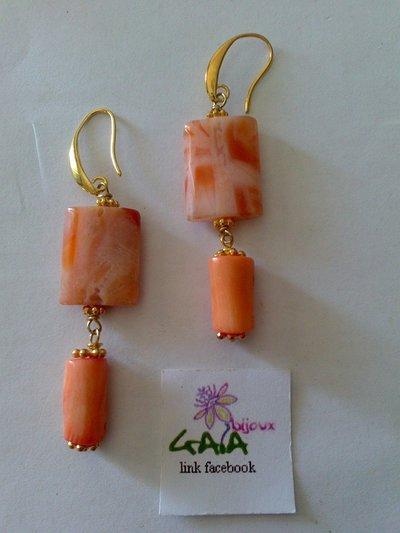Agata e corallo rosa