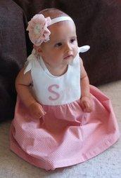 Vestito bebe' bambina personalizzato con nome -  Fatto a mano