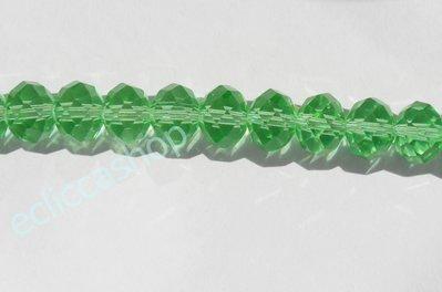 cipollotti rondelle abaco sfaccettati color verde trasparente 20 pz