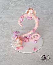 Cake topper compleanno bimba personalizzati