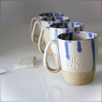 RISERVATO ILARIA!  Tazze in ceramica per thè, caffelatte, cappuccino. Set di 4