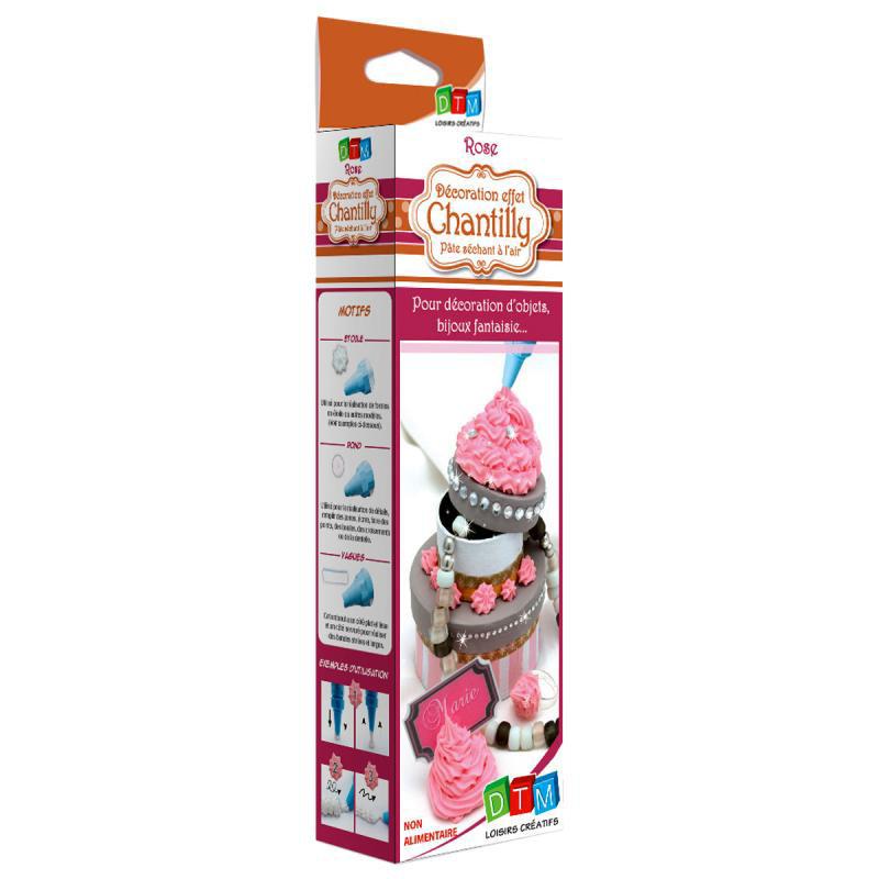 Decorazione effetto Crema Chantilly, per guarnire creazioni in fimo, colore rosa