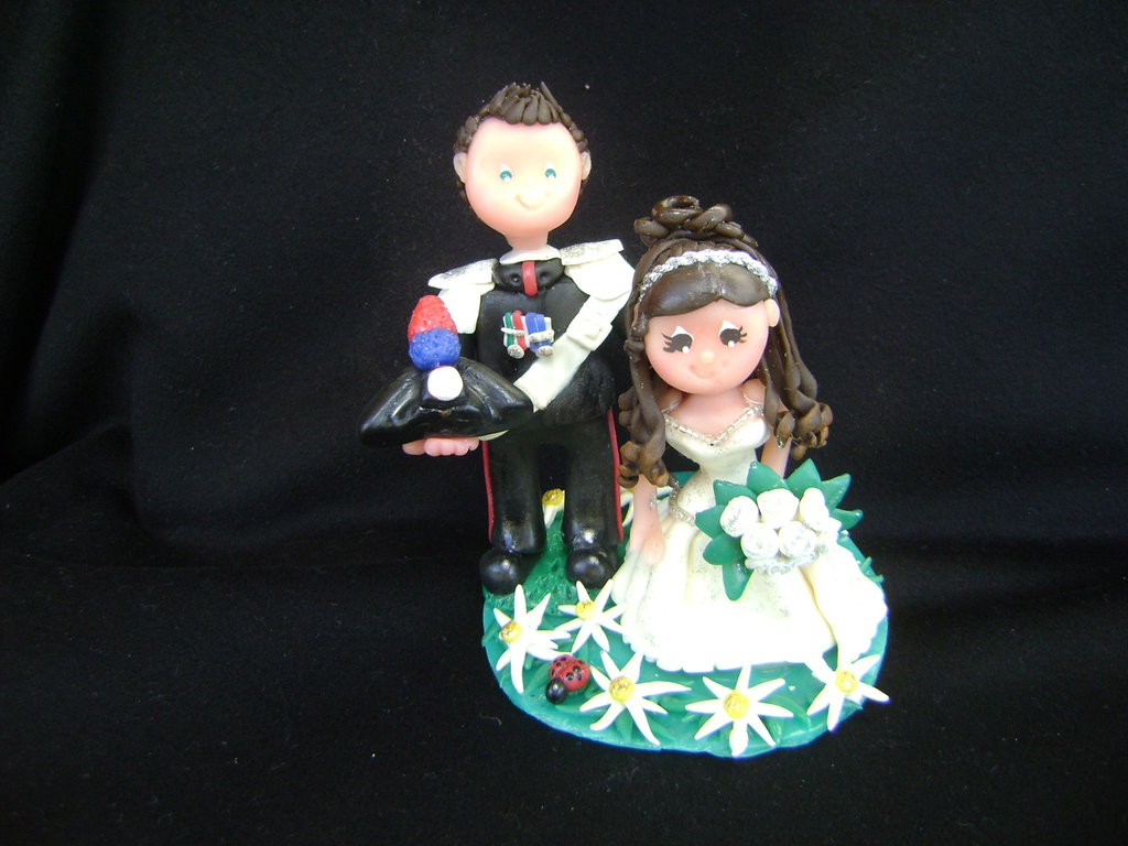 sposi per torta o portafoto