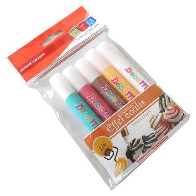 Penne Topping per decorazione fimo-chantilly, 5 colori
