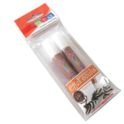 Penne Topping per decorazione fimo-chantilly, marrone cioccolato x 2 tubetti