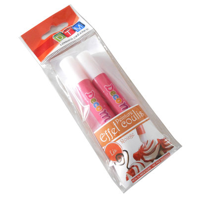 Penne Topping per decorazione fimo-chantilly, fragola/lampone x 2 tubetti