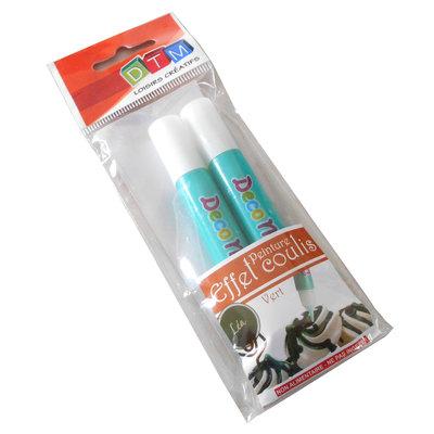 Penne Topping per decorazione fimo-chantilly, verde kiwi x 2 tubetti