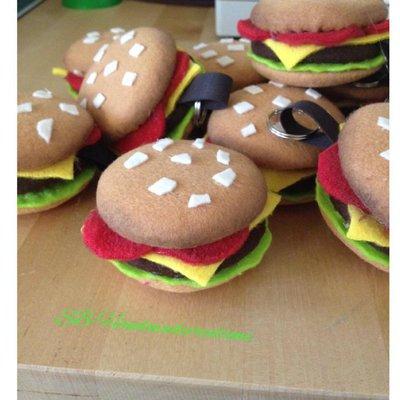 Hamburger panino portachiave