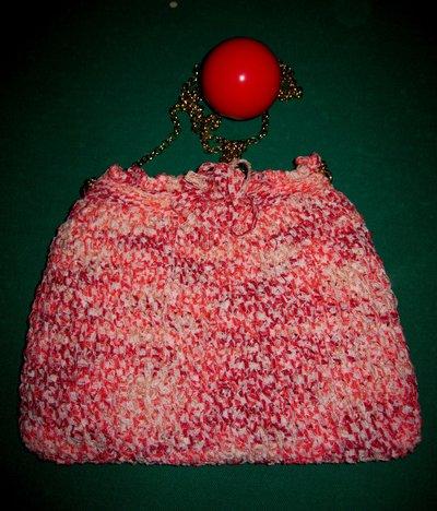 Pochette in fettuccia di cotone melange rosa