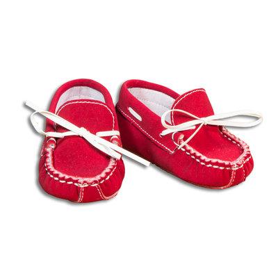 Scarpine neonato mocassino rosso