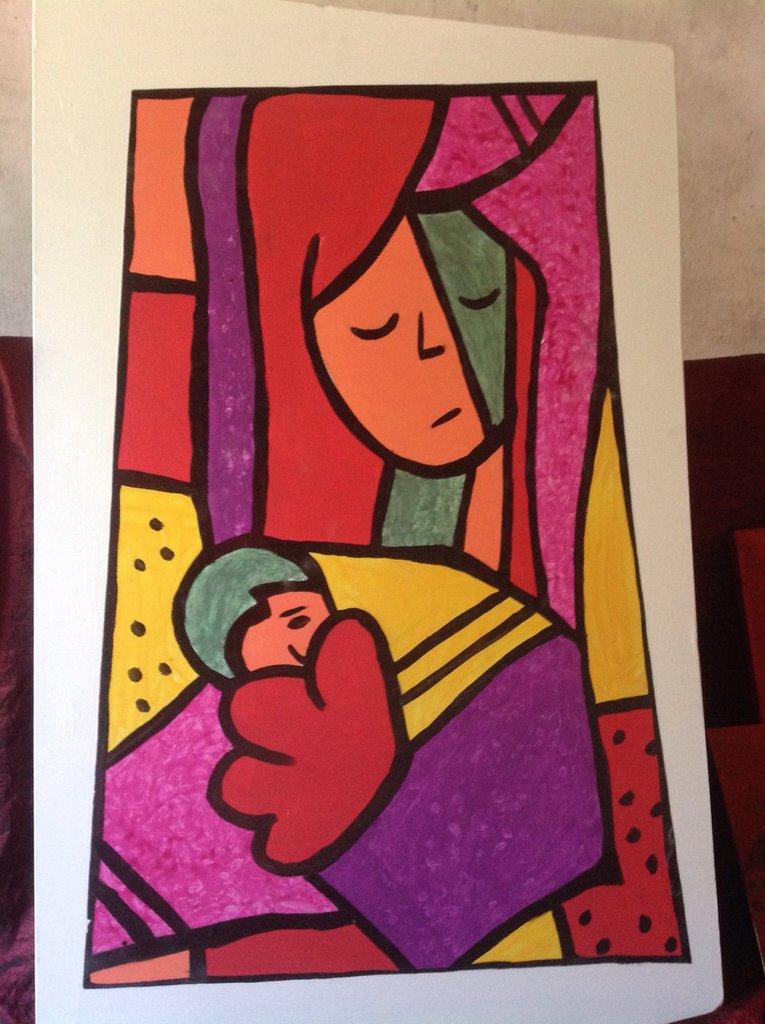 Mamma con piccola valentina