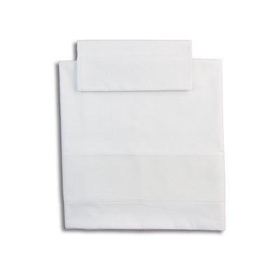 Lenzuola culla bianco con tela aida per ricamo