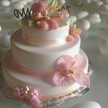 BOMBONIERA O SEGNAPOSTO WEDDING CAKE IN GESSO PROFIMATO