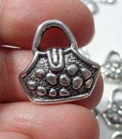 6 Ciondolo Borsetta Argento Tibetano