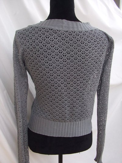 giacca donna pizzo maglia cotone
