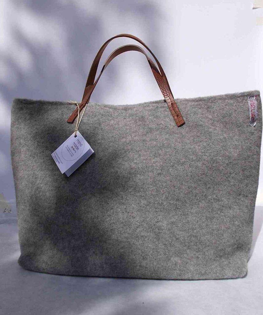 """Borsa """"Tote Bag"""" grigio chiaro"""