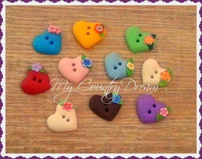 "Bottoni Artigianali ""Little Heart"""