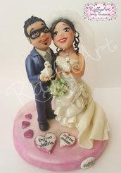 """Cake topper matrimonio/anniversario """"Il Nostro Giorno"""" (personalizzabile)"""