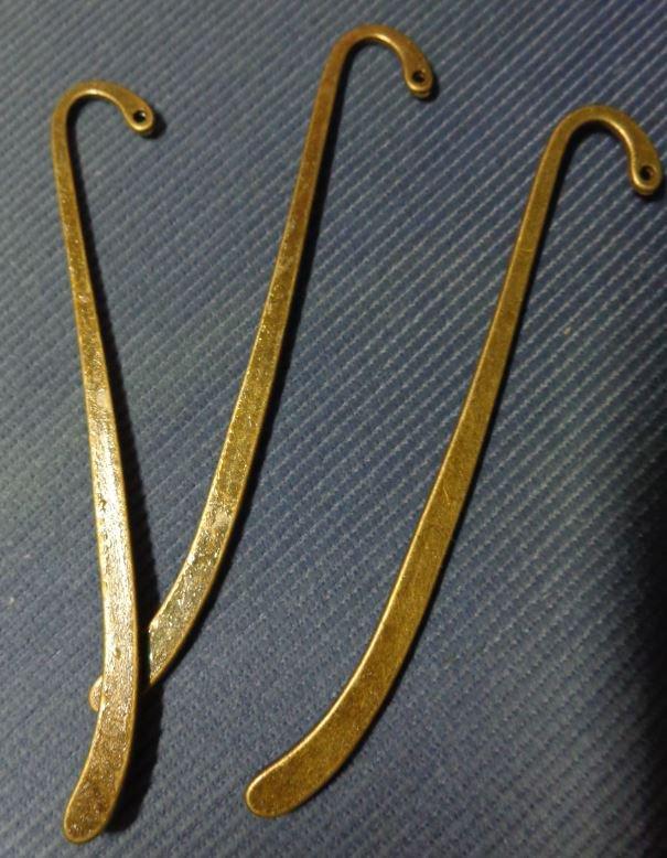 4 Basi per Segnalibro in argento tibetano colore BRONZO ANTICO