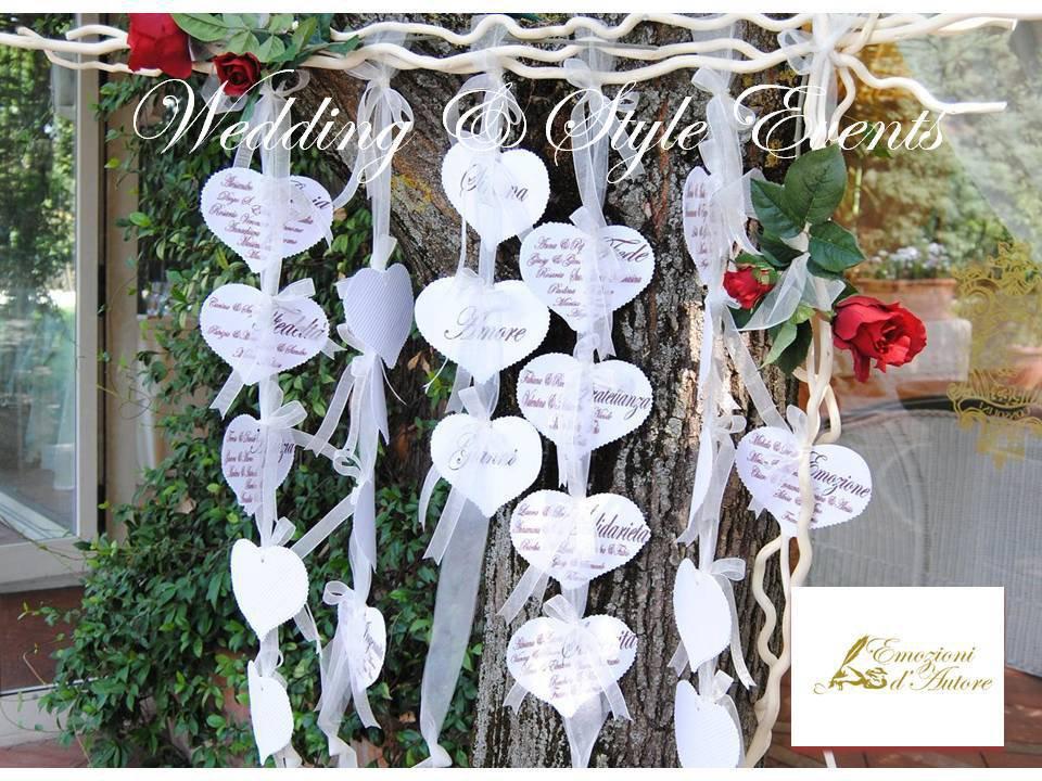 Popolare TABLEAU CUORI & ROSE ROSSE - Nozze Romantiche - Feste - Matrimonio  FG85