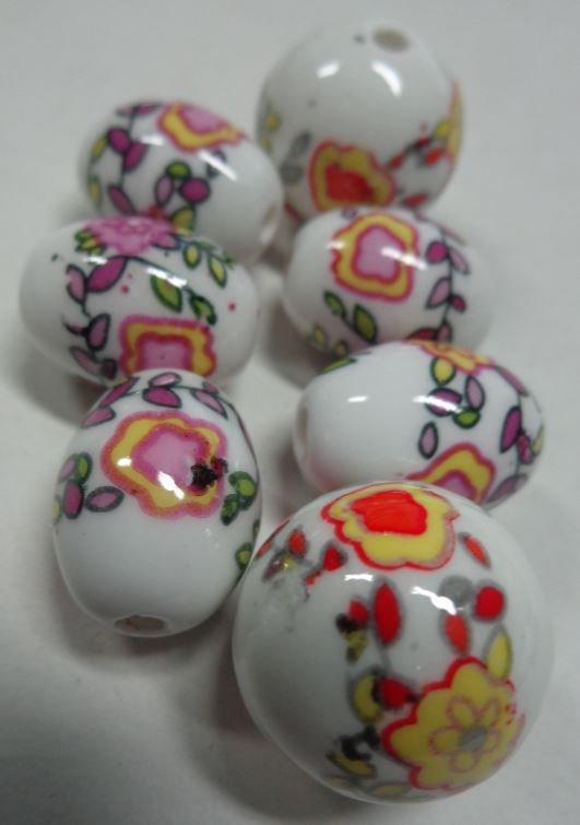 7 Perline in Porcellana
