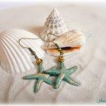Orecchini in stile marino - Stella marina turchese