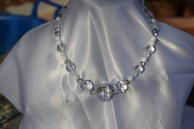 Collier con perle di vetro