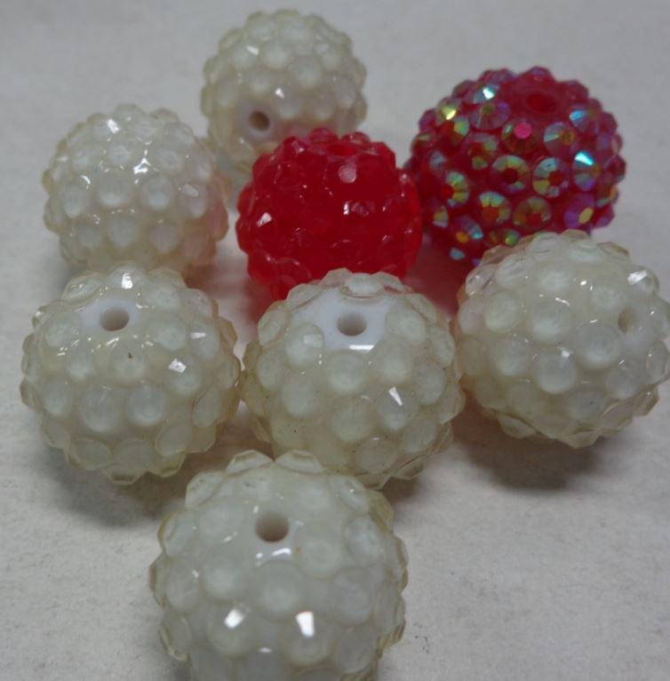 8 Perline in Acrilico