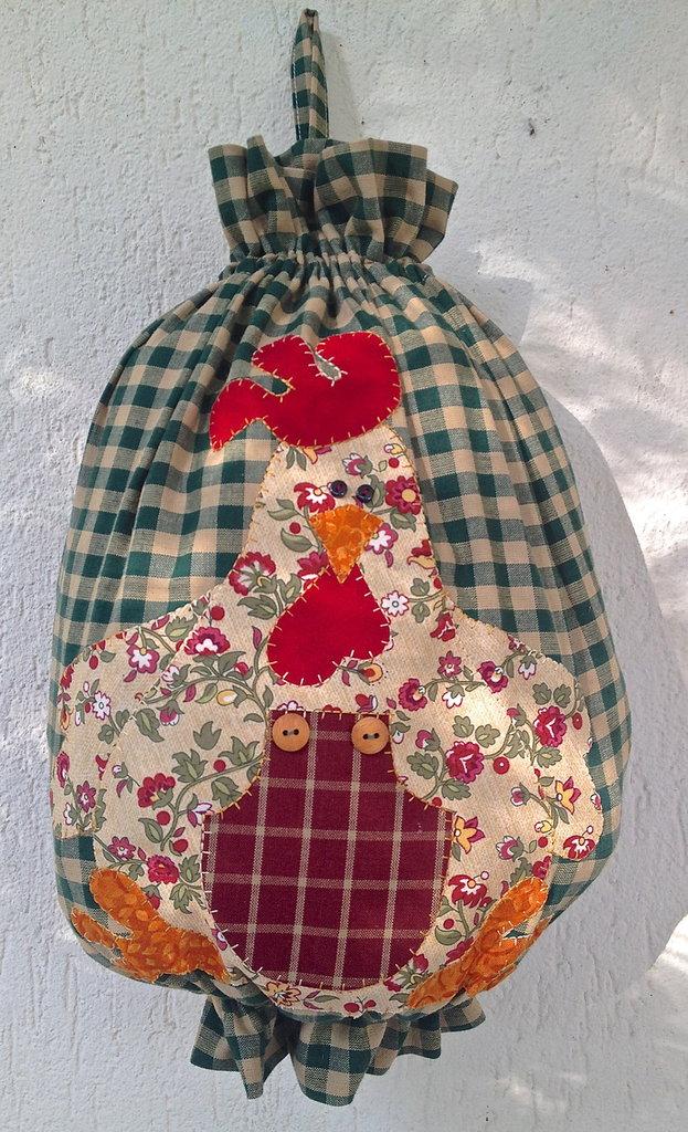 Porta sacchetti con gallo per la casa e per te decorare casa su misshobby - Porta sacchetti ...