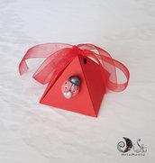 Portaconfetti piramide scatoline laurea decorate