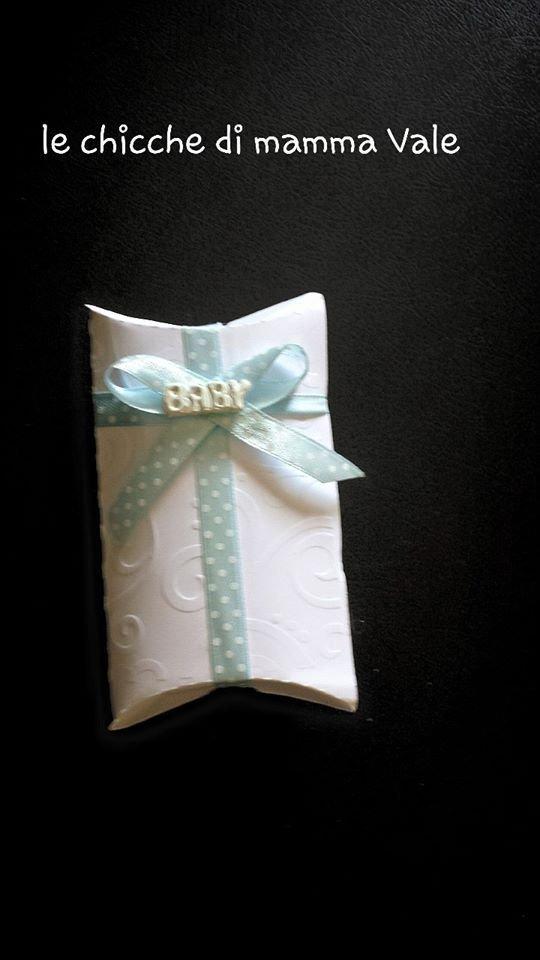 scatolina portaconfetti nascita, battesimo, comunione, matrimonio fatta a mano